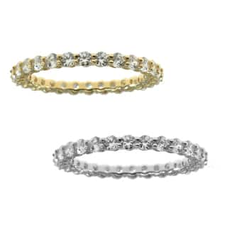 Michael Valitutti Cubic Zirconia Eternity Bank in 14k Yellow Gold or 14k White Gold|https://ak1.ostkcdn.com/images/products/10014577/P17161932.jpg?impolicy=medium