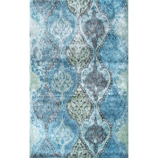Jade Blue Wool/Silk Rug (5'x8')