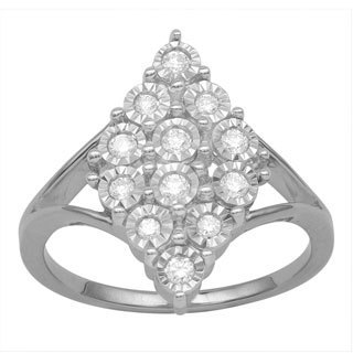Divina Sterling Silver 1/4 ct TDW Diamond Fashion Ring (H-I, I3 Promotional)