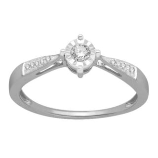 Divina Sterling Silver 1/10 ct TDW Diamond Fashion Ring (H-I, I2-I3)
