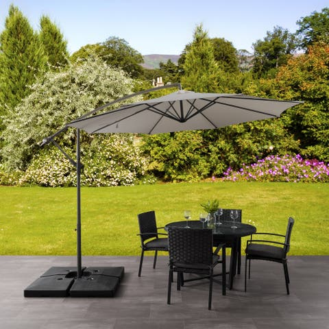 CorLiving 9.5ft UV Resistant Offset Patio Umbrella