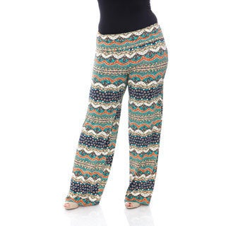 White Mark Plus Size 'Cool Dubai Nights' Palazzo Pants