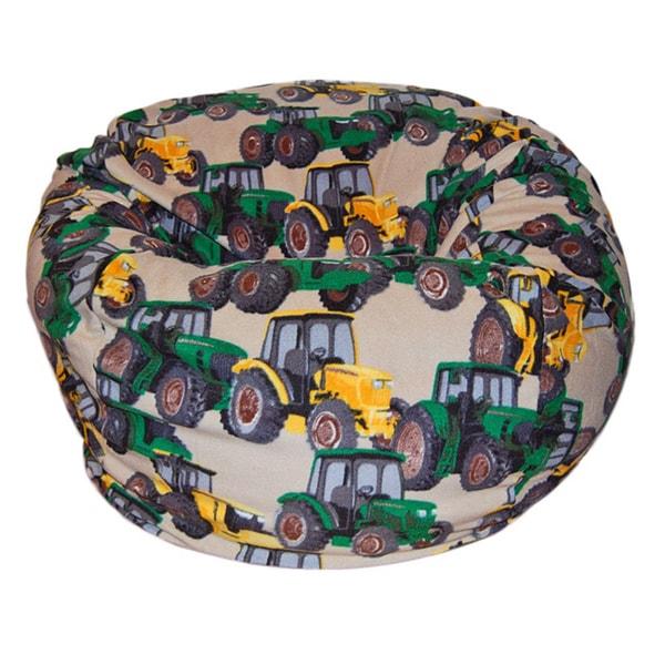 Shop Anti Pill Tractors Fleece Washable Bean Bag Chair