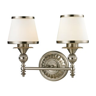 Smithfield Collection 2-light bath in Brushed Nickel