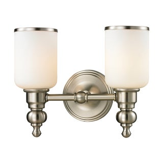 Bristol Collection 2-light bath in Brushed Nickel