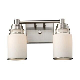Bryant 2-light Vanity in Satin Nickel