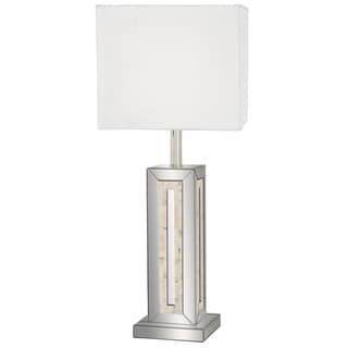 Regina Tall Mirror And Capiz Shell Table Lamp