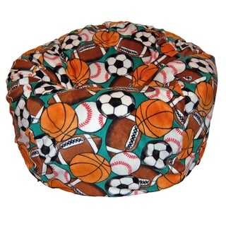 Anti-Pill Sports Fleece Washable Bean Bag Chair