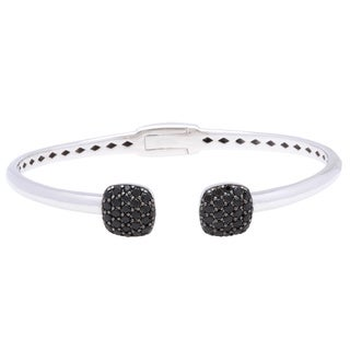 Sterling Silver Black Spinel Cuff