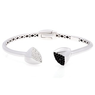 Sterling Silver Black Spinel White Topaz Cuff
