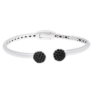 Sterling Silver Black Spinel Bangle Bangle
