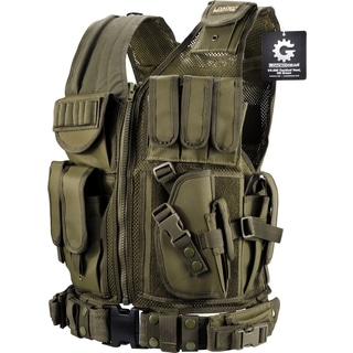 Barska Loaded Gear VX-200 OD Green Right Hand Tactical Vest