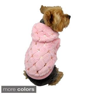 Insten Pink Pet Puppy Dog Hoodie with Sequins