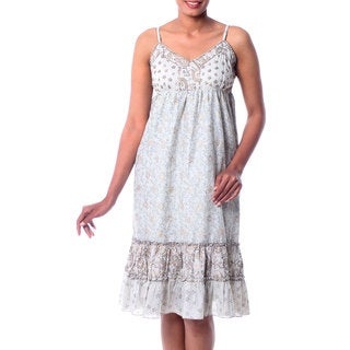Handmade Cotton 'Summer in Jaipur' Sundress (India)