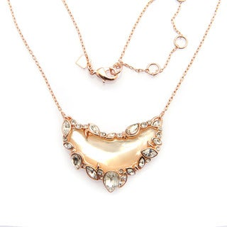 De Buman 18k Rose Gold Plated or 18k Yellow Gold Plated Mother of Pearl Necklace