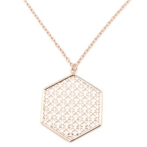 De Buman 18k Rose Gold Plated Necklace