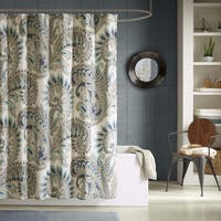 Ink+Ivy Mira 100-percent Cotton Printed Shower Curtain 2 Color Option