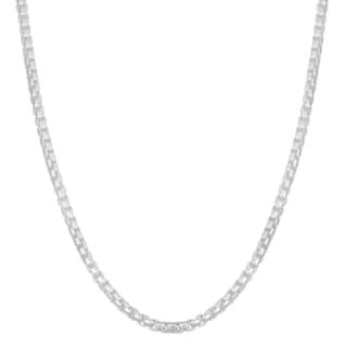 Fremada Sterling Silver 2 1 Mm High Polished Round Box Link Chain Necklace 18 Inch