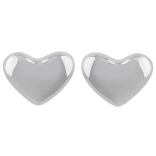 Sunstone Sterling Silver Heart Button Stud Earrings