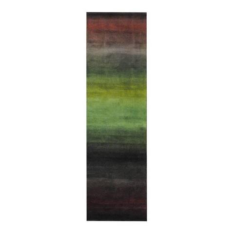 Handmade Tibetan Wool Runner (India) - 2'4 x 8'