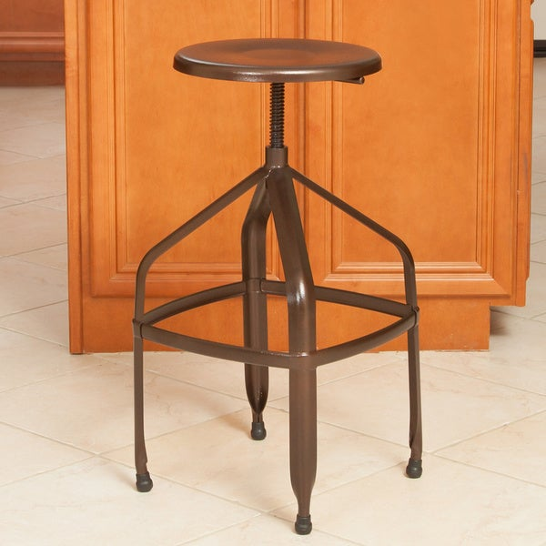 Shop Christopher Knight Home Natalia Steel Swivel Stool