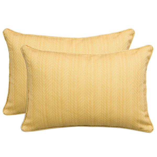 Shop Better Living Golden Yellow 40inch Decorative Feather Down Classy Decorative Kidney Pillows