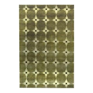 Herat Oriental Indo Hand-knotted Tribal Tibetan Wool Rug (3'8 x 5'6)