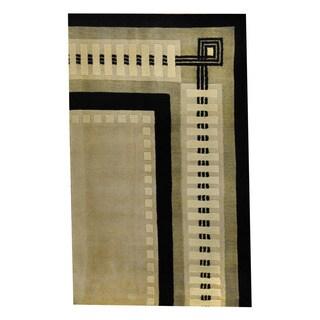 Herat Oriental Indo Hand-knotted Tribal Tibetan Wool Rug (2'7 x 4'3)