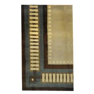 Herat Oriental Indo Hand-knotted Tribal Tibetan Wool Rug - 2'6 x 4'