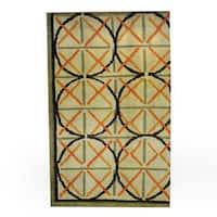 Herat Oriental Indo Hand-knotted Tribal Tibetan Wool Rug - 2'6 x 3'11