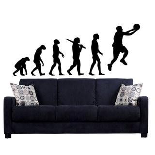 Basketball Dunk Jam Evolution Sticker Vinyl Wall Art
