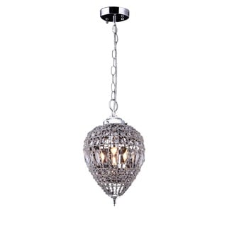 Chrome 1 Light Mini Pendant with Clear European Crystals