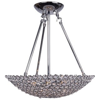 Chorme 6 Light Pendant with Clear European Crystals