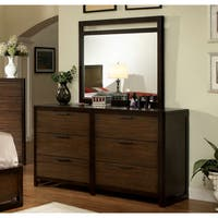 Arlins Modern Tobacco 2-piece Dresser and Mirror Set by FOA