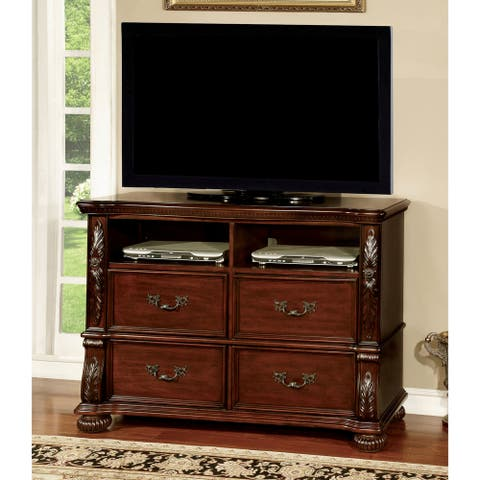 Furniture of America Ulis Traditional 50-inch Cherry Media Chest