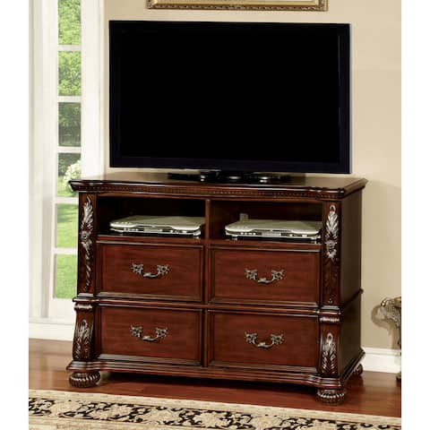 Ellianne Traditional Brown Cherry 4-drawer Media Chest by FOA