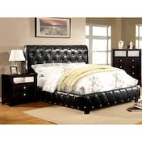Silver Orchid Brenon Black 2-piece Bluetooth Bed and Nightstand Set