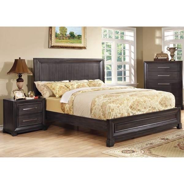 furniture of america stoneward dark grey 3 piece bedroom set free