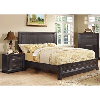 furniture of america stoneward dark grey 3 piece bedroom set