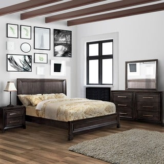 Furniture of America Stoneward Dark Grey 4-piece Bedroom Set