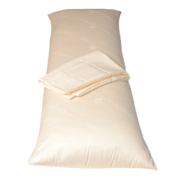 De Luxe Wool Body Pillow with Pillowcase