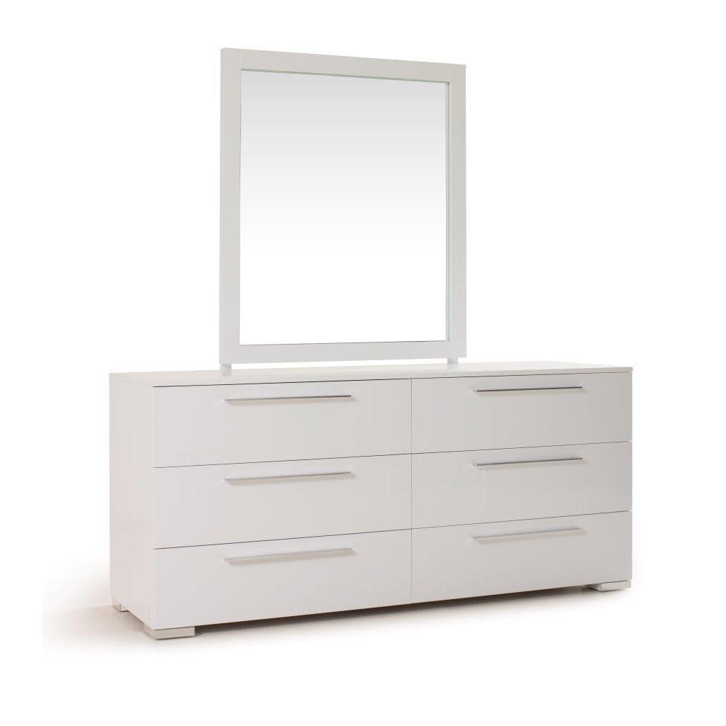 USA Tuscany Double Dresser and Mirror Set, White, Size 6-...