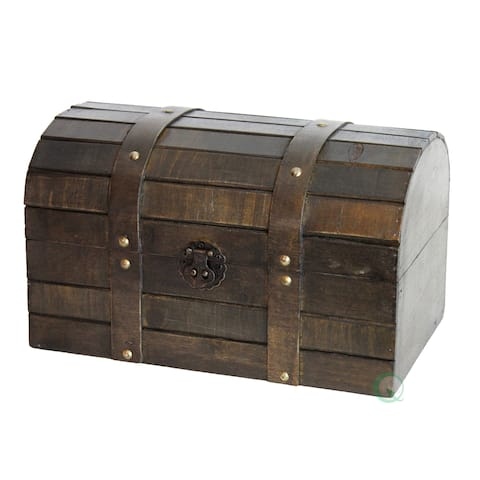 Old Style Barn Wood Trunk - brown