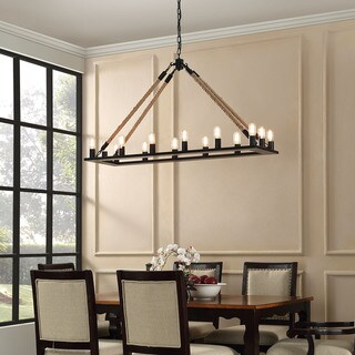 Bridge Industrial Modern Chandelier - Black
