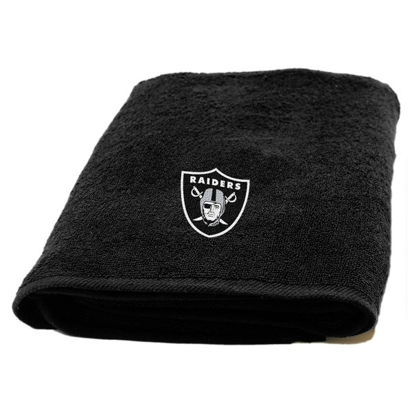 NFL Raiders Applique Bath Towel