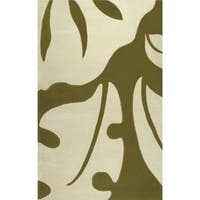 Hand-tufted Neverland Olive Wool and Artificial Silk Area Rug (5' x 8')