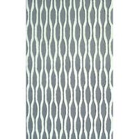 Hand-tufted Beads Black Polyester Area Rug (5' x 7'6)