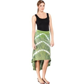 Tie Dye High Low Summer Skirt