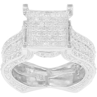 Sterling Silver 3/4ct TDW Diamond Anniversary Ring