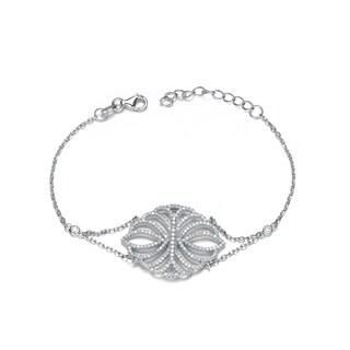 Collette Z Sterling Silver Cubic Zirconia Elegant Bracelet